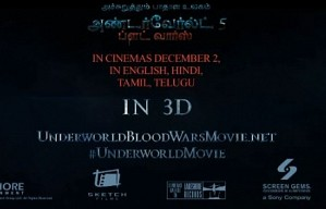 Underworld Blood Wars: Tamil trailer