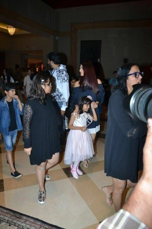 Bachchan Family Spotted At JW Marriott