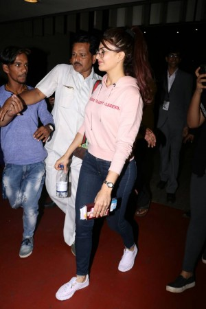 Jacqueline Fernandez Spotted At Airport