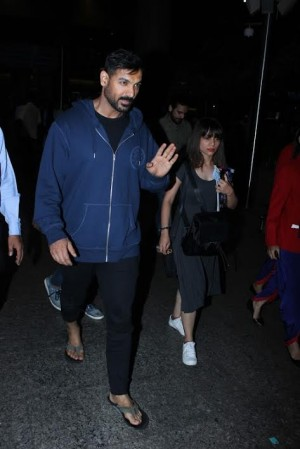John Abraham Spotted At International Airport