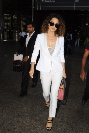 Kangana Ranaut Spotted At International Airport