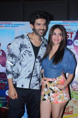Kartik Aaryan And Kriti Kharbanda At The Promotional Interview For Film Guest Iin London