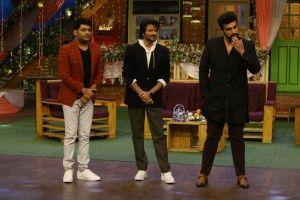 Mubarakan Team On Set Of Kapil Sharma Show