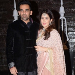 Sagarika Ghatge And Zaheer Khan Reception