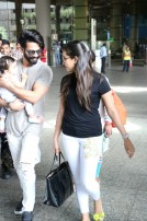 Shahid Kapoor And Mira Rajput Spotted At Airport