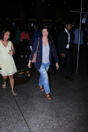 Twinkle Khanna Spotted At International Airport