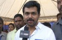 Karthi at Cycle Rally