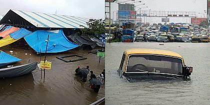 Check the massive floods in Mumbai