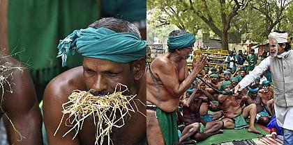 Unique protests by Tamil Nadu farmers in Delhi