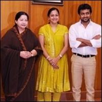 Suriya invites CM