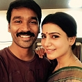 A special moment between Dhanush and Samantha