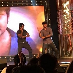 Sivakarthikeyan and Raghava Lawrence danced together at Sivalingaa audio launch