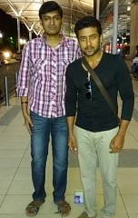 Behinwoods visitor Sri Nivas shares his picture with Suriya