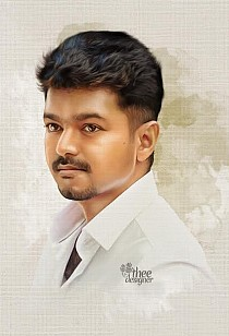 A digital painting of Ilayathalapathy Vijay on his birthday