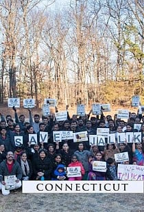 Jallikattu support event at Farmington, CT, USA