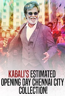 Kabali's estimated opening day Chennai city collection!