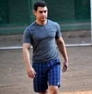 Aamir Khan plays football