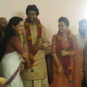 Actress Bhavana and producer Naveen engagement