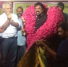 Anil Mehta and South Indian cinematographers honoring Santosh Sivan