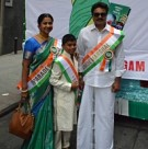 Anna Hazare and Sarath Kumar at Americas largest India Day parade