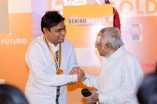 AR Rahman receiving BW Gold Medal from MSV