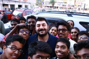 Arvind Swami's Bogan Success Celebration at Kamala Cinemas