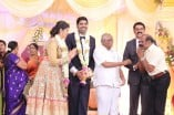 Celebrities at Ajay Ratnam's son wedding Receptions