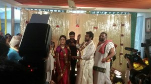 Chiranjeevi Sarja And Actress Meghana Raj Engagement