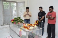 Celebrities pay homage to DSP's Father Sathyamurthy