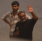 Dhanush and Akshara Haasan in the sets of Balki's untitled movie