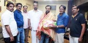 Director Bharathiraja Felicitated Thiru Murugan Gandhi