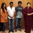 GV Prakash and Family meet CM Jayalalitha