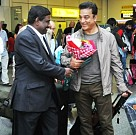 Ilayaraaja and Kamal Haasan land in London