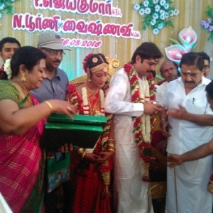Kalaignanam Grandson Jayakumar Wedding Reception