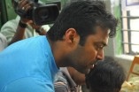 Leander Paes at Rehabilitation centre for the handicapped
