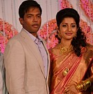 Meera Jasmine Anil John Wedding Reception