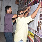 Mysskin sticks wall posters for Onaiyum Aatukuttiyum