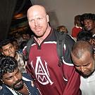 Nathan Jones at Chennai Airport