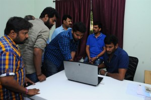 Ondikkatta Team Meet With Vishal And Prabhu Deva