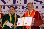 Prabhu receives Doctorate from Vels University