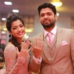 Rakshit Shetty And Rashmika Mandanna Engagement