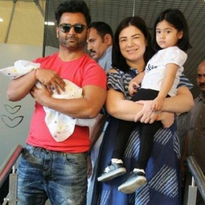 Sachiin Joshi and Urvashi Sharma With Their New Born Baby