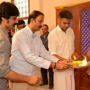 SJ Suryah - Pawan Kalyan Movie Pooja Stills