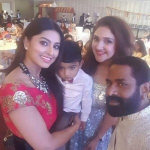Sridevi Vijaykumar and Rahul's daughter Rupikaa first birthday celebrations