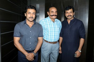 Suriya and Karthi at Theeran Adhigaram Ondru Celebrity Show