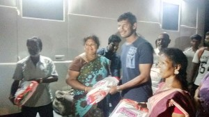 TFPC President Vishal's distribution of Diwali Gifts to Association Members