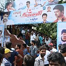Thalaivaa fans celebration at SSR Pankajam
