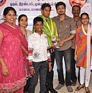 Vijay offers support to students