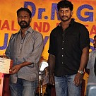 Vishal and Vetri maaran at Dr MGR University 28th Annual Day Celebrations