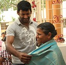 Vishal visits an old age home for Mother's Day